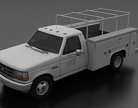 3D model Ford F-350 1992 DRW Regular Cab Service Utility