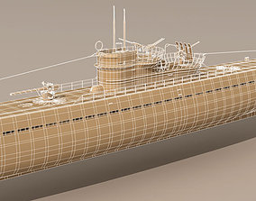 3D model Type IX U-boat submarine