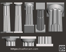 Doric Column with relief - 3d model for CNC 1