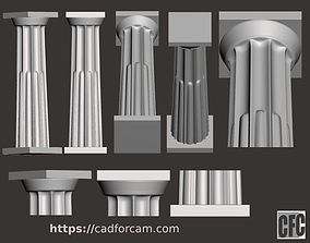 Doric Column with relief - 3d model for CNC - 1