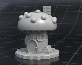 house mushrooms 3D
