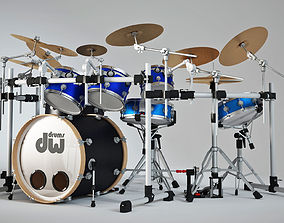 Drum set rock 3D model