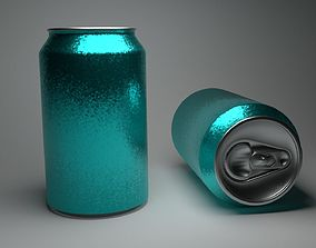 3D model Soda Can with PBR Texture