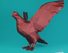 3D print model low poly dove