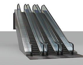 escalator rigged 3D model
