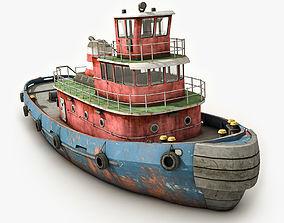 Tugboat 3D asset