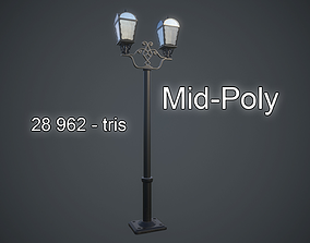 3D model mid poly Street Light