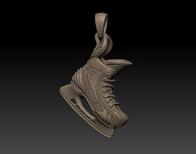 Skates pendant ready for print 3D printable model