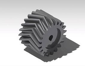 3D print model Double Helical Gear