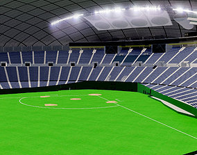 3D asset Sapporo Dome - Japan