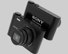 3D asset Low-poly Photorealistic sony camera