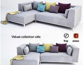 Velvet collection sofa 3D model