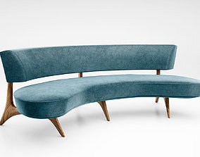 Vladimir Kagan Floating curved sofa model 176sc