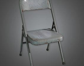 3D asset Folding Metal Chair TLS - PBR Game Ready
