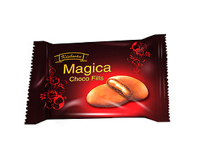 Food Packaging Chocolate Biscuit 3D model