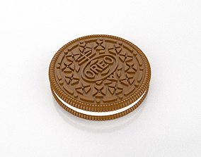 Oreo biscuit sculpture and 3D printable model