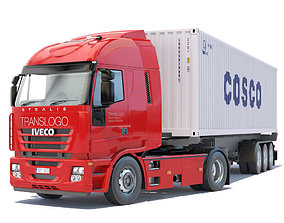 Iveco Stralis with containers 3D model
