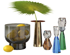 3D BoConcept decorative set with vase candleholders and