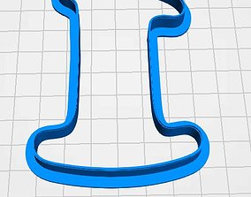 Number 1 cookie cutter for professional 3D print