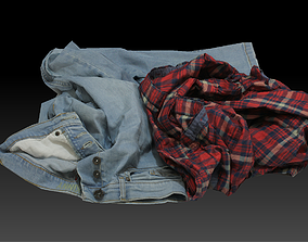 3D model game-ready Pile of Cloths 1
