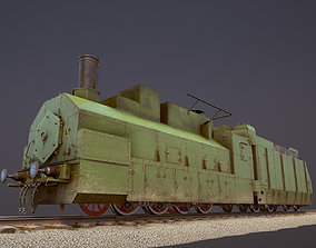 Armored Train PR-35 Locomotive 3D asset