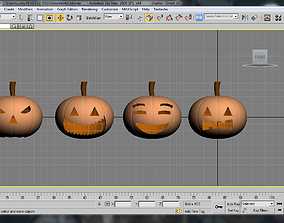 3D print model pumpkin helloween