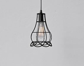 3D Cage Pendant Light 06