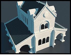 Gondor House Building 3D asset