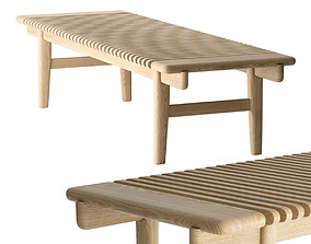 Hans Wegner PP Mobler 589 bar bench 3D