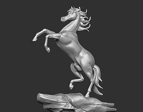 art Arabian Horse Jump Sculpture 3D print model