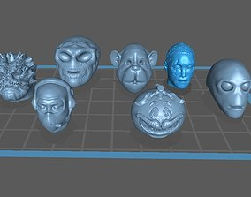 Collection of 7 head pen or pencil toppers 3D print model