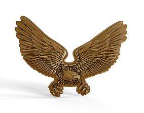Overlay medal Eagle 3D print model