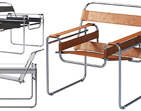 3D Wassily Chair by Marcel Breuer 4 options marcel