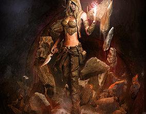 Earth Sorceress 3D model
