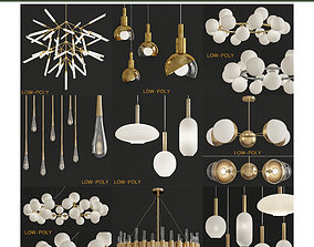 3D asset Chandelier 10 pieces
