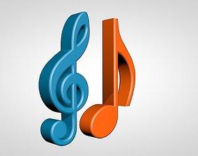 Musical Notes 3D model