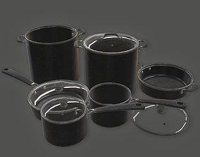 3D asset KTC - Cooking Pots 04 - PBR Game Ready