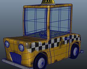 Taxi Cab Cartoon 3D
