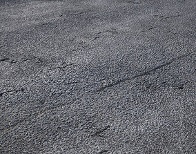 3D model Large area seamless damaged road texture