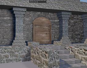 3D model mendieval temple
