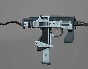 3D asset rigged game-ready SubMachine Gun
