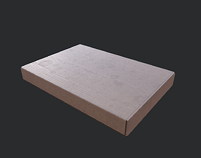 Cardboard Box 04 3D model