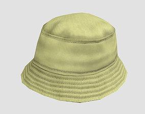 Bucket hat - khaki 3D asset