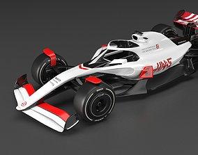 3D model f1 haas 2021 - 2023 concept