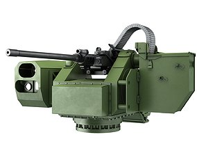 3D asset low-poly Remote Controlled Weapon Station RCWS