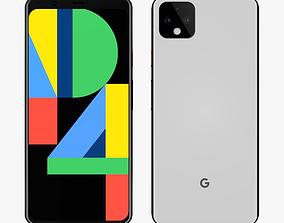 3D Google Pixel 4 White