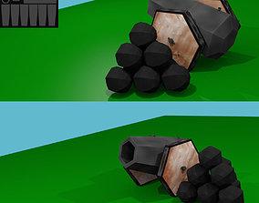 low poly canon 3D asset