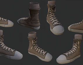3D model low-poly sneakers