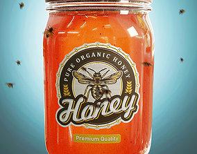 Honey Jar Product Visualisation 3D asset