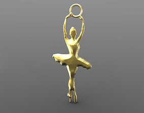 Dancer 3D printable model pendant